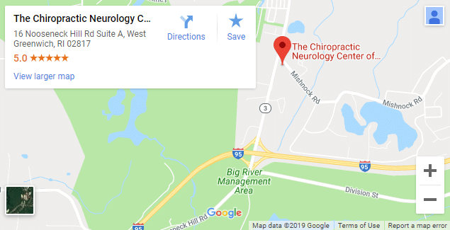 Map of West Greenwich Chiropractors